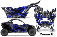 Can-am-Canam-Maverick-X3-CreatorX-Graphics-Kit-TribalX-Custom-Blue_Silver-With-Door-Insert_Rims