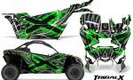 Can-am-Canam-Maverick-X3-CreatorX-Graphics-Kit-TribalX-Custom-Green_Silver-With-Door-Insert_Rims
