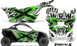 Can am Canam Maverick X3 CreatorX Graphics Kit TribalX Custom Green White With Door Insert Rims 150x90 - Can-Am BRP Maverick X3/X DS/ X RS 2016-2021 Graphics