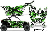 Can-am-Canam-Maverick-X3-CreatorX-Graphics-Kit-TribalX-Custom-Green_White-With-Door-Insert_Rims