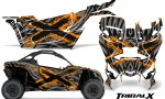 Can am Canam Maverick X3 CreatorX Graphics Kit TribalX Custom Orange Silver With Door Insert Rims 150x90 - Can-Am BRP Maverick X3/X DS/ X RS 2016-2021 Graphics