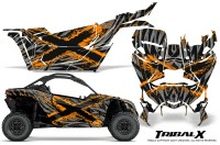 Can-am-Canam-Maverick-X3-CreatorX-Graphics-Kit-TribalX-Custom-Orange_Silver-With-Door-Insert_Rims