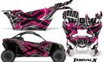 Can am Canam Maverick X3 CreatorX Graphics Kit TribalX Custom Pink Silver With Door Insert Rims 150x90 - Can-Am BRP Maverick X3/X DS/ X RS 2016-2021 Graphics