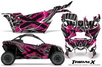 Can-am-Canam-Maverick-X3-CreatorX-Graphics-Kit-TribalX-Custom-Pink_Silver-With-Door-Insert_Rims