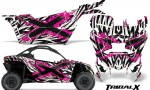 Can am Canam Maverick X3 CreatorX Graphics Kit TribalX Custom Pink White With Door Insert Rims 150x90 - Can-Am BRP Maverick X3/X DS/ X RS 2016-2021 Graphics