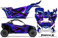 Can-am-Canam-Maverick-X3-CreatorX-Graphics-Kit-TribalX-Custom-Purple_Blue-With-Door-Insert_Rims