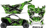 Can am Canam Maverick X3 CreatorX Graphics Kit TribalX Custom Silver Green With Door Insert Rims 150x90 - Can-Am BRP Maverick X3/X DS/ X RS 2016-2021 Graphics