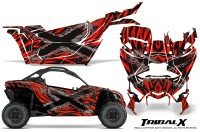 Can-am-Canam-Maverick-X3-CreatorX-Graphics-Kit-TribalX-Custom-Silver_Red-With-Door-Insert_Rims