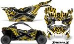 Can am Canam Maverick X3 CreatorX Graphics Kit TribalX Custom Silver Yellow With Door Insert Rims 150x90 - Can-Am BRP Maverick X3/X DS/ X RS 2016-2021 Graphics