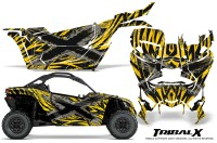 Can-am-Canam-Maverick-X3-CreatorX-Graphics-Kit-TribalX-Custom-Silver_Yellow-With-Door-Insert_Rims