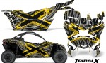 Can am Canam Maverick X3 CreatorX Graphics Kit TribalX Custom Yellow Silver With Door Insert Rims 150x90 - Can-Am BRP Maverick X3/X DS/ X RS 2016-2021 Graphics