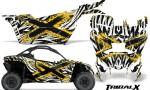 Can am Canam Maverick X3 CreatorX Graphics Kit TribalX Custom Yellow White With Door Insert Rims 150x90 - Can-Am BRP Maverick X3/X DS/ X RS 2016-2021 Graphics