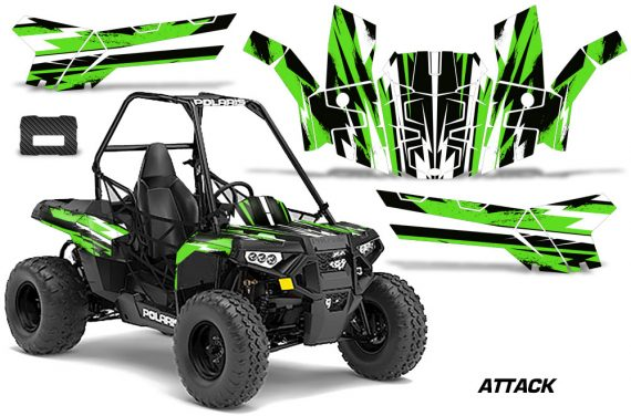 Polaris ACE 150 Graphics Kit Attack G 570x376 - Polaris Sportsman ACE 150 2016-2018 Graphics