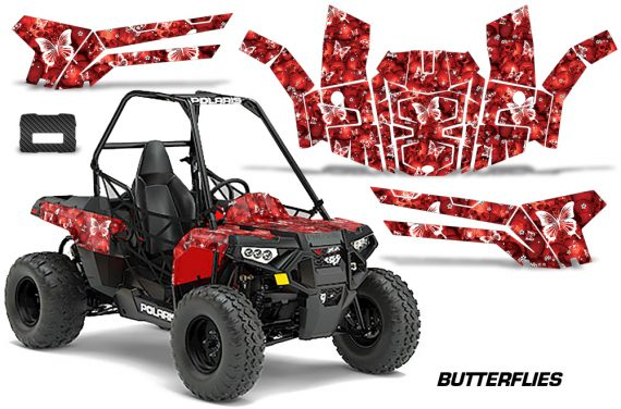 Polaris ACE 150 Graphics Kit Butterflies WR 570x376 - Polaris Sportsman ACE 150 2016-2018 Graphics