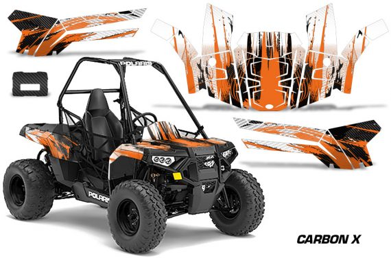 Polaris ACE 150 Graphics Kit Carbon X O 570x376 - Polaris Sportsman ACE 150 2016-2018 Graphics