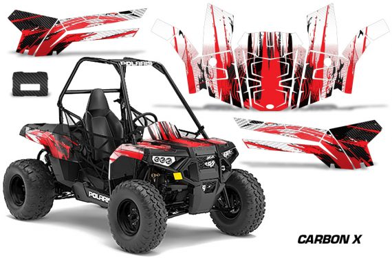 Polaris ACE 150 Graphics Kit Carbon X R 570x376 - Polaris Sportsman ACE 150 2016-2018 Graphics