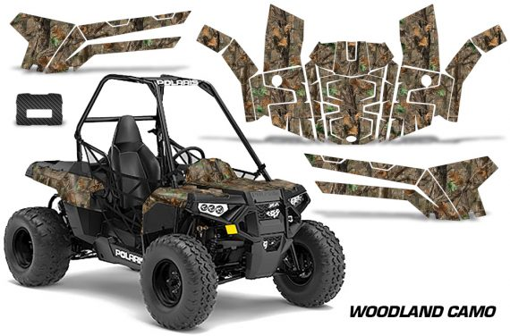 Polaris ACE 150 Graphics Kit Woodland Camo 570x376 - Polaris Sportsman ACE 150 2016-2018 Graphics