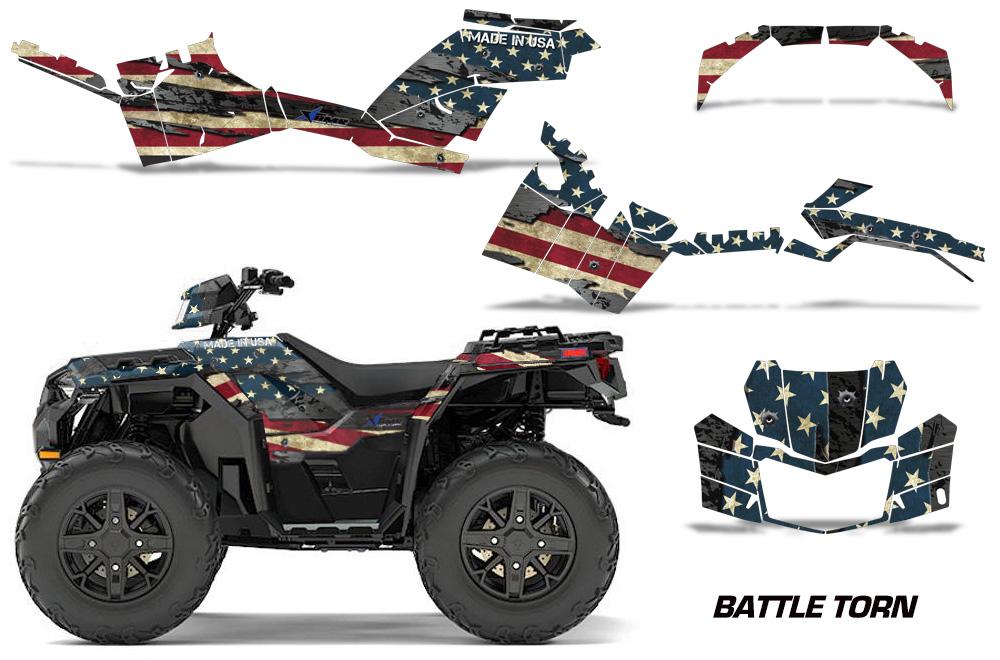 Polaris-Sportsman-850-1000-2017-2018-Graphics-Kit-Battle-Torn