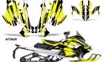 Skidoo Gen 4 850 X Summit Renegade E Tec Graphic Kit Decal Wrap Attack Y 150x90 - Ski Doo GEN 4 MXZ Renegade Summit 850 2017-2021 Snowmobile Graphics