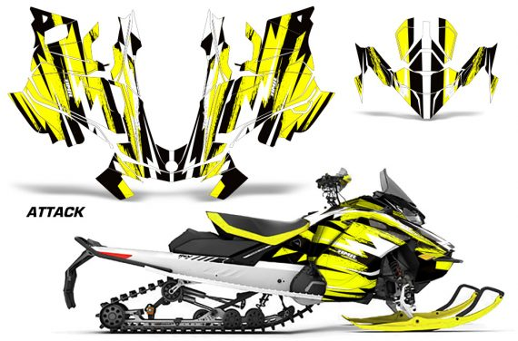 Skidoo-Gen-4-850-X-Summit-Renegade-E-Tec-Graphic-Kit-Decal-Wrap-Attack-Y