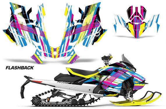 Skidoo-Gen-4-850-X-Summit-Renegade-E-Tec-Graphic-Kit-Decal-Wrap-Flashback
