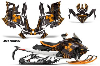 Skidoo-Gen-4-850-X-Summit-Renegade-E-Tec-Graphic-Kit-Decal-Wrap-Meltdown-OB