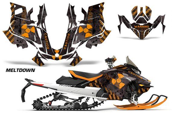Skidoo-Gen-4-850-X-Summit-Renegade-E-Tec-Graphic-Kit-Decal-Wrap-Meltdown-OB