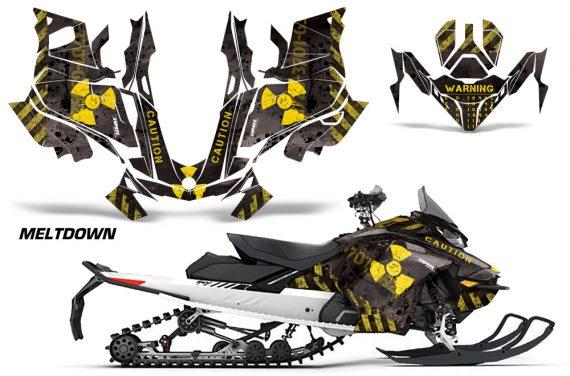 Skidoo-Gen-4-850-X-Summit-Renegade-E-Tec-Graphic-Kit-Decal-Wrap-Meltdown-YB