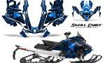 Skidoo Gen 4 850 X Summit Renegade E Tec Graphic Kit Skull Chief Blue 150x90 - Ski Doo GEN 4 MXZ Renegade Summit 850 2017-2021 Snowmobile Graphics