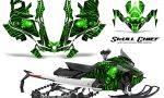 Skidoo Gen 4 850 X Summit Renegade E Tec Graphic Kit Skull Chief Green 150x90 - Ski Doo GEN 4 MXZ Renegade Summit 850 2017-2021 Snowmobile Graphics