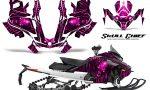 Skidoo Gen 4 850 X Summit Renegade E Tec Graphic Kit Skull Chief Pink 150x90 - Ski Doo GEN 4 MXZ Renegade Summit 850 2017-2021 Snowmobile Graphics