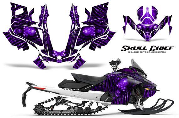 Skidoo Gen 4 850 X Summit Renegade E Tec Graphic Kit Skull Chief Purple 570x376 - Ski Doo GEN 4 MXZ Renegade Summit 850 2017-2021 Snowmobile Graphics