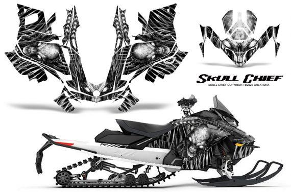 Skidoo Gen 4 850 X Summit Renegade E Tec Graphic Kit Skull Chief White 570x376 - Ski Doo GEN 4 MXZ Renegade Summit 850 2017-2021 Snowmobile Graphics