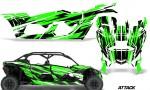 Can Am Maverick X3 4 Door Graphics Kit Wrap Attack G 150x90 - Can-Am BRP Maverick X3 TURBO MAX DS RS 2016-2021 Graphics