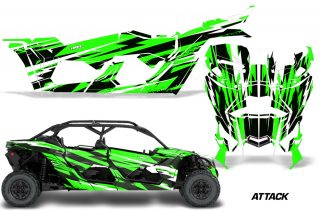 Can-Am-Maverick-X3-4-Door-Graphics-Kit-Wrap-Attack-G-