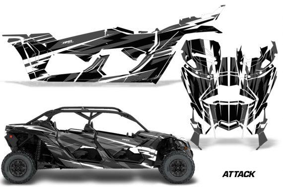 Can Am Maverick X3 4 Door Graphics Kit Wrap Attack K 570x376 - Can-Am BRP Maverick X3 TURBO MAX DS RS 2016-2021 Graphics