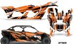Can Am Maverick X3 4 Door Graphics Kit Wrap Attack O 150x90 - Can-Am BRP Maverick X3 TURBO MAX DS RS 2016-2021 Graphics