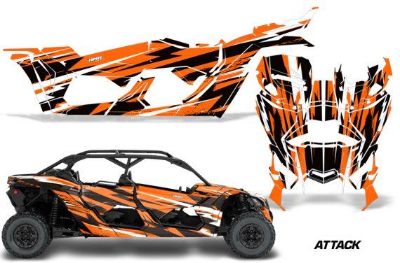 Can Am Maverick X3 4 Door Graphics Kit Wrap Attack O 570x376 - Can-Am BRP Maverick X3 TURBO MAX DS RS 2016-2021 Graphics