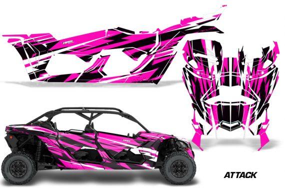 Can Am Maverick X3 4 Door Graphics Kit Wrap Attack P 570x376 - Can-Am BRP Maverick X3 TURBO MAX DS RS 2016-2021 Graphics