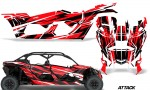 Can Am Maverick X3 4 Door Graphics Kit Wrap Attack R 150x90 - Can-Am BRP Maverick X3 TURBO MAX DS RS 2016-2021 Graphics