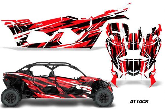 Can Am Maverick X3 4 Door Graphics Kit Wrap Attack R 570x376 - Can-Am BRP Maverick X3 TURBO MAX DS RS 2016-2021 Graphics