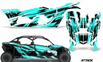 Can Am Maverick X3 4 Door Graphics Kit Wrap Attack T 150x90 - Can-Am BRP Maverick X3 TURBO MAX DS RS 2016-2021 Graphics