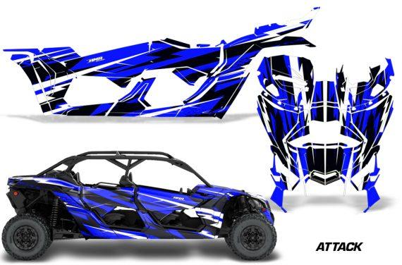 Can Am Maverick X3 4 Door Graphics Kit Wrap Attack U 570x376 - Can-Am BRP Maverick X3 TURBO MAX DS RS 2016-2021 Graphics