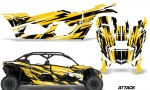 Can Am Maverick X3 4 Door Graphics Kit Wrap Attack Y 150x90 - Can-Am BRP Maverick X3 TURBO MAX DS RS 2016-2021 Graphics