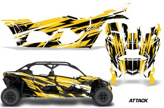 Can Am Maverick X3 4 Door Graphics Kit Wrap Attack Y 320x211 - Can-Am BRP Maverick X3 TURBO MAX DS RS 2016-2021 Graphics