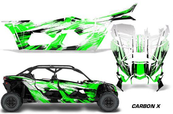 Can Am Maverick X3 4 Door Graphics Kit Wrap Carbon X G 570x376 - Can-Am BRP Maverick X3 TURBO MAX DS RS 2016-2021 Graphics