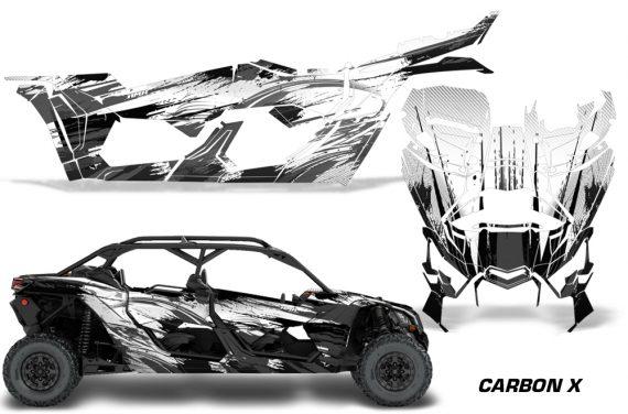 Can Am Maverick X3 4 Door Graphics Kit Wrap Carbon X K 570x376 - Can-Am BRP Maverick X3 TURBO MAX DS RS 2016-2021 Graphics
