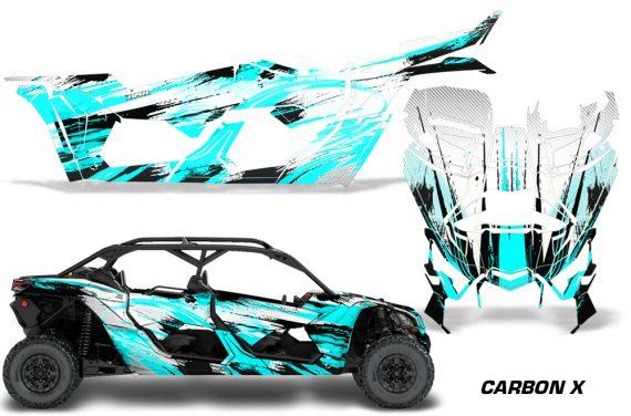 Can Am Maverick X3 4 Door Graphics Kit Wrap Carbon X T 570x376 - Can-Am BRP Maverick X3 TURBO MAX DS RS 2016-2021 Graphics