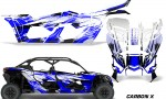 Can Am Maverick X3 4 Door Graphics Kit Wrap Carbon X U 150x90 - Can-Am BRP Maverick X3 TURBO MAX DS RS 2016-2021 Graphics