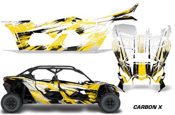 Can Am Maverick X3 4 Door Graphics Kit Wrap Carbon X Y 570x376 - Can-Am BRP Maverick X3 TURBO MAX DS RS 2016-2021 Graphics
